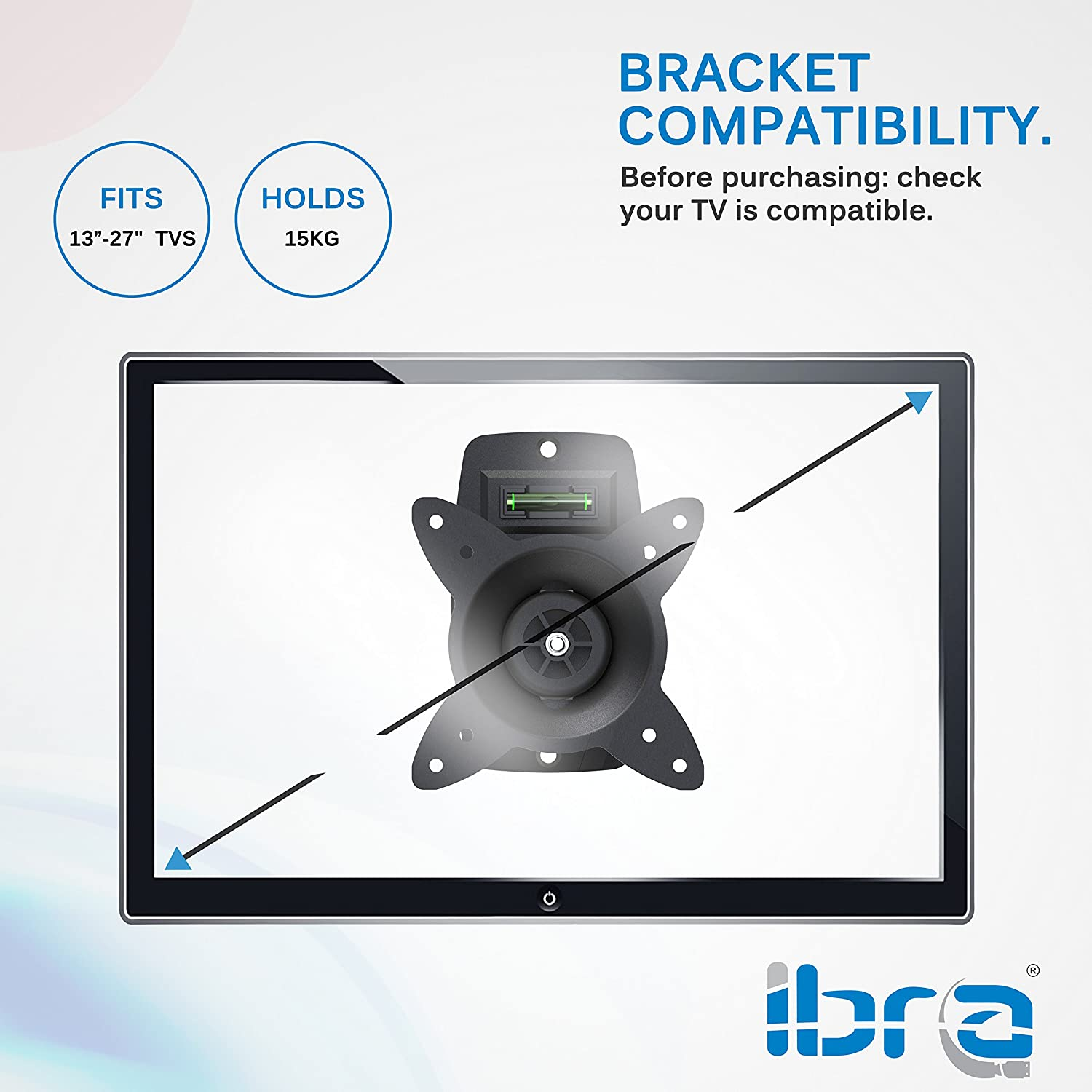 IBRA® Flat TV Mount for LED&LCD TV Sizes from 23