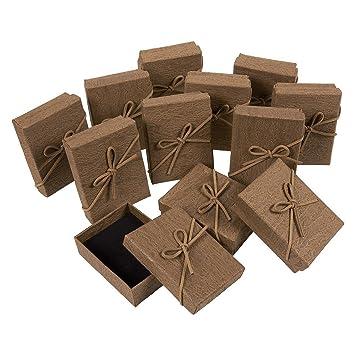 Amazon.com: Juego de 12 cajas de regalo para joyas, color ...