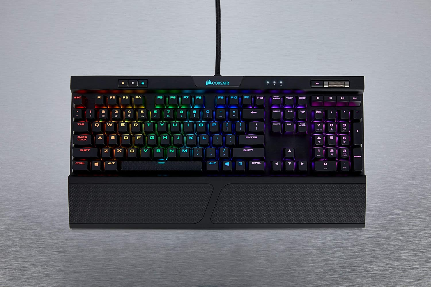 Corsair K70 RGB MK.2 - Teclado mecánico Gaming, retroiluminación LED RGB, Marrón (Cherry MX Brown) (CH-9109012-ES) - [QWERTY Español]: Amazon.es: ...