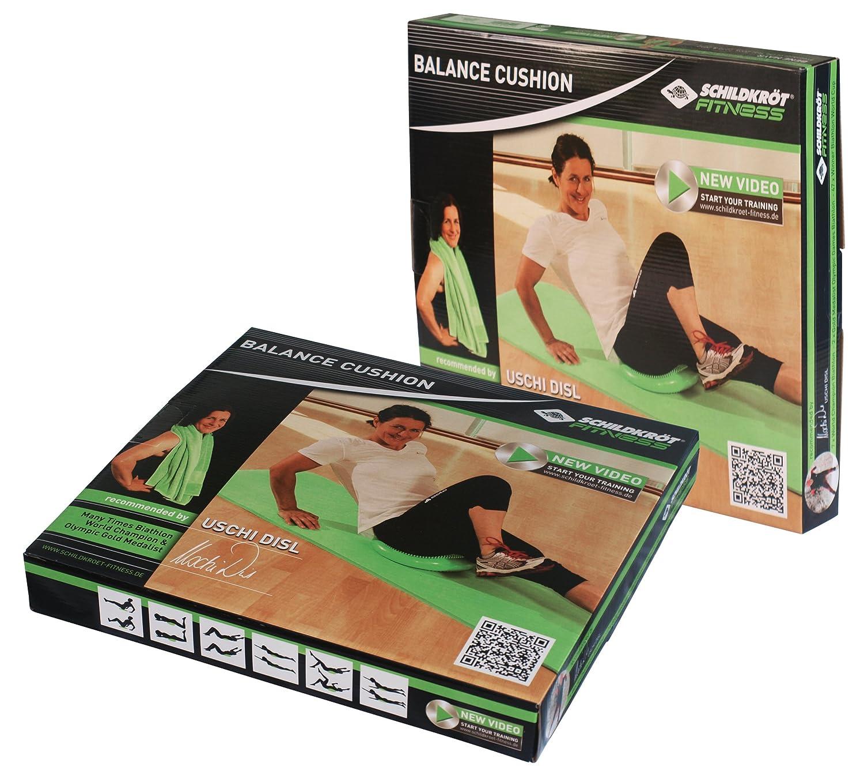 960030 Verde incluye Bomba de Mano Schildkr/öt Fitness Coj/ín de Equilibrio