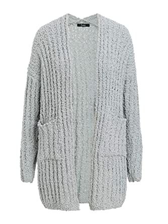 eb6370787ee Simplee Women's Casual Open Front Long Sleeve Knit Cardigan Sweater Coat  with Pockets