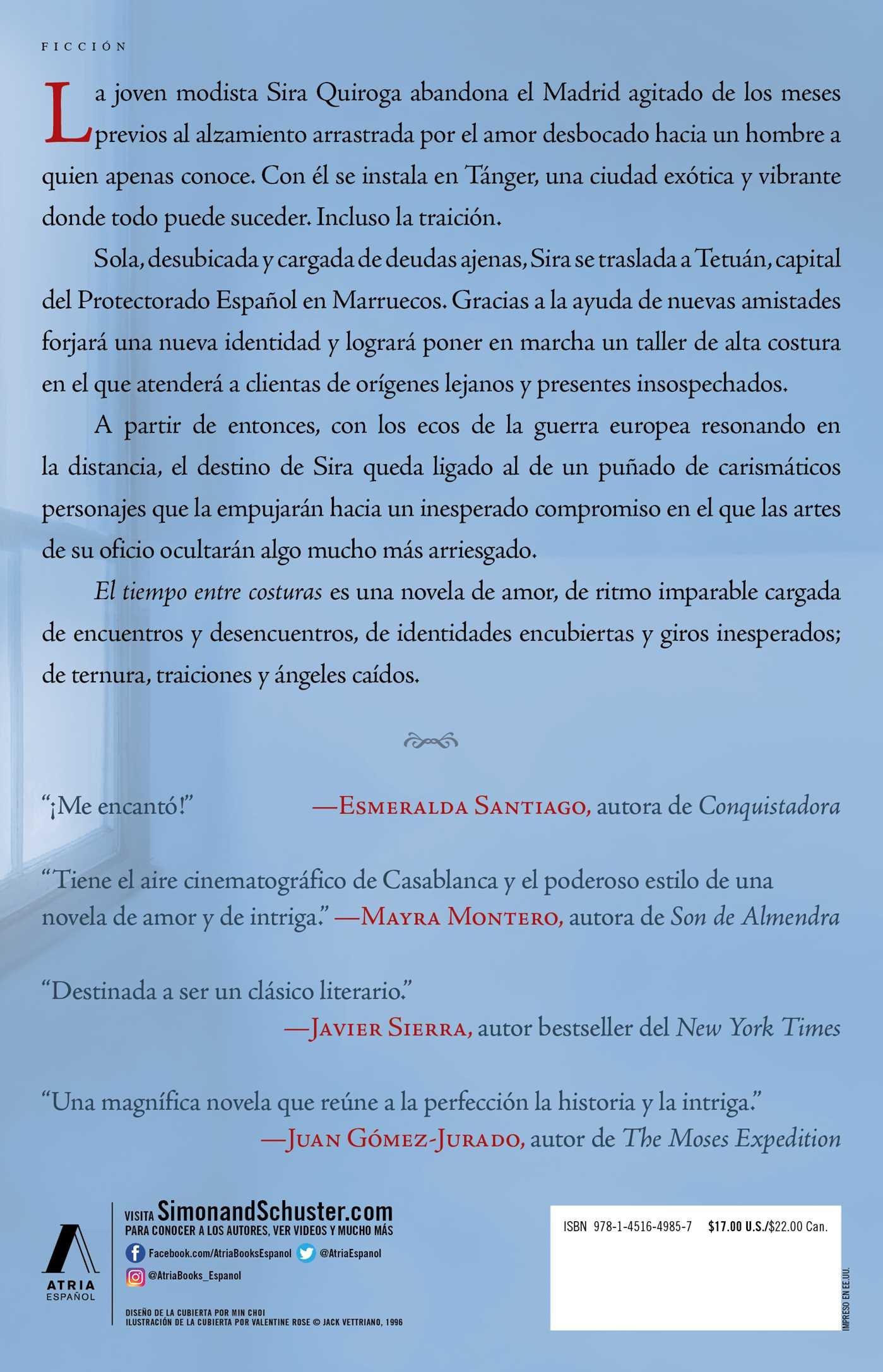 El Tiempo Entre Costuras Una Novela Atria Espanol Duenas Maria Amazon De Bücher