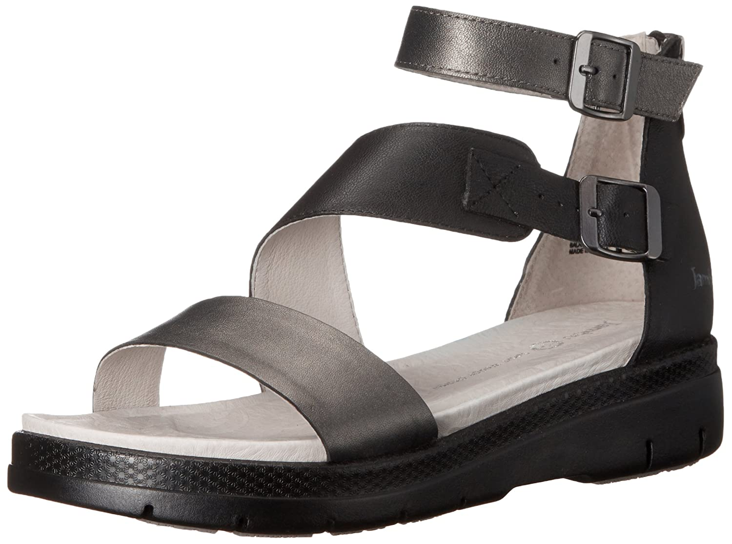 Jambu Women's Cape May Wedge Sandal B005AFFYZQ 6 B(M) US|Gunmetal Black