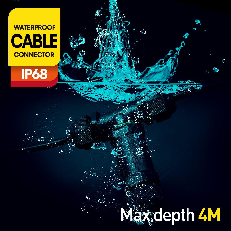 Dreipolige IP68 Wasserdicht Outdoor / Externer Anschlussdose ...
