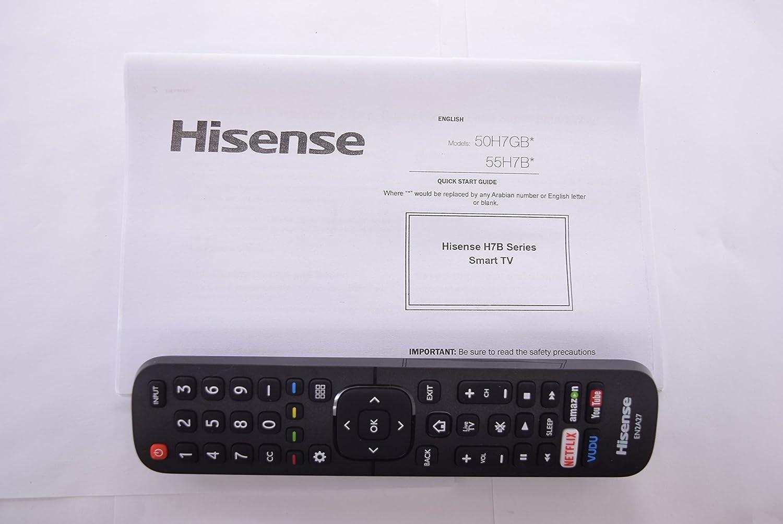 Hisense 50h7gb, 55h7b en2 a27 TV Mando a Distancia y Manual de Usuario 20555: Amazon.es: Electrónica
