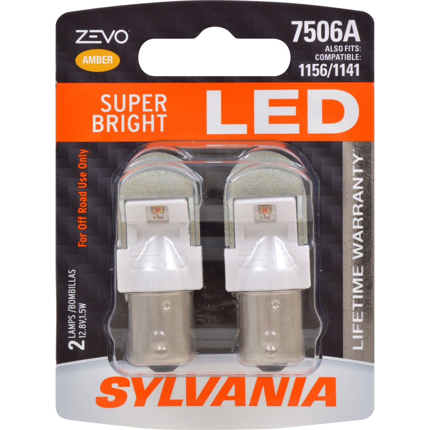 Ideal for Daytime Running Lights Contains 2 Bulbs DRL SYLVANIA Bulb 7506 Long Life Miniature and Back-Up//Reverse Lights