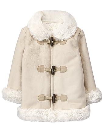 Amazon.com  Gymboree Baby Girls Faux Fur Trim Coat 7d24ee00cd6a