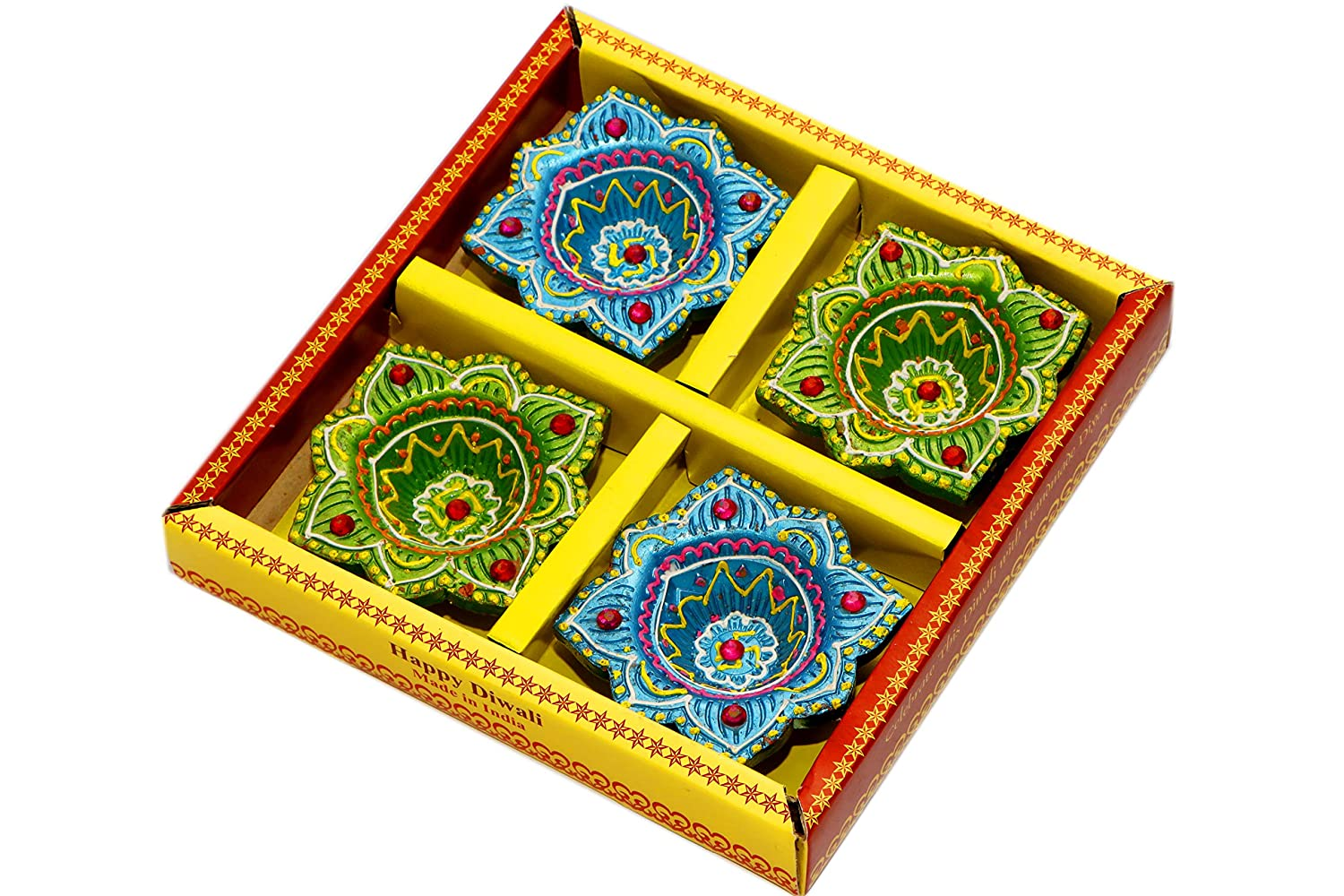 Teracotta Multicolour Diya for Diwali