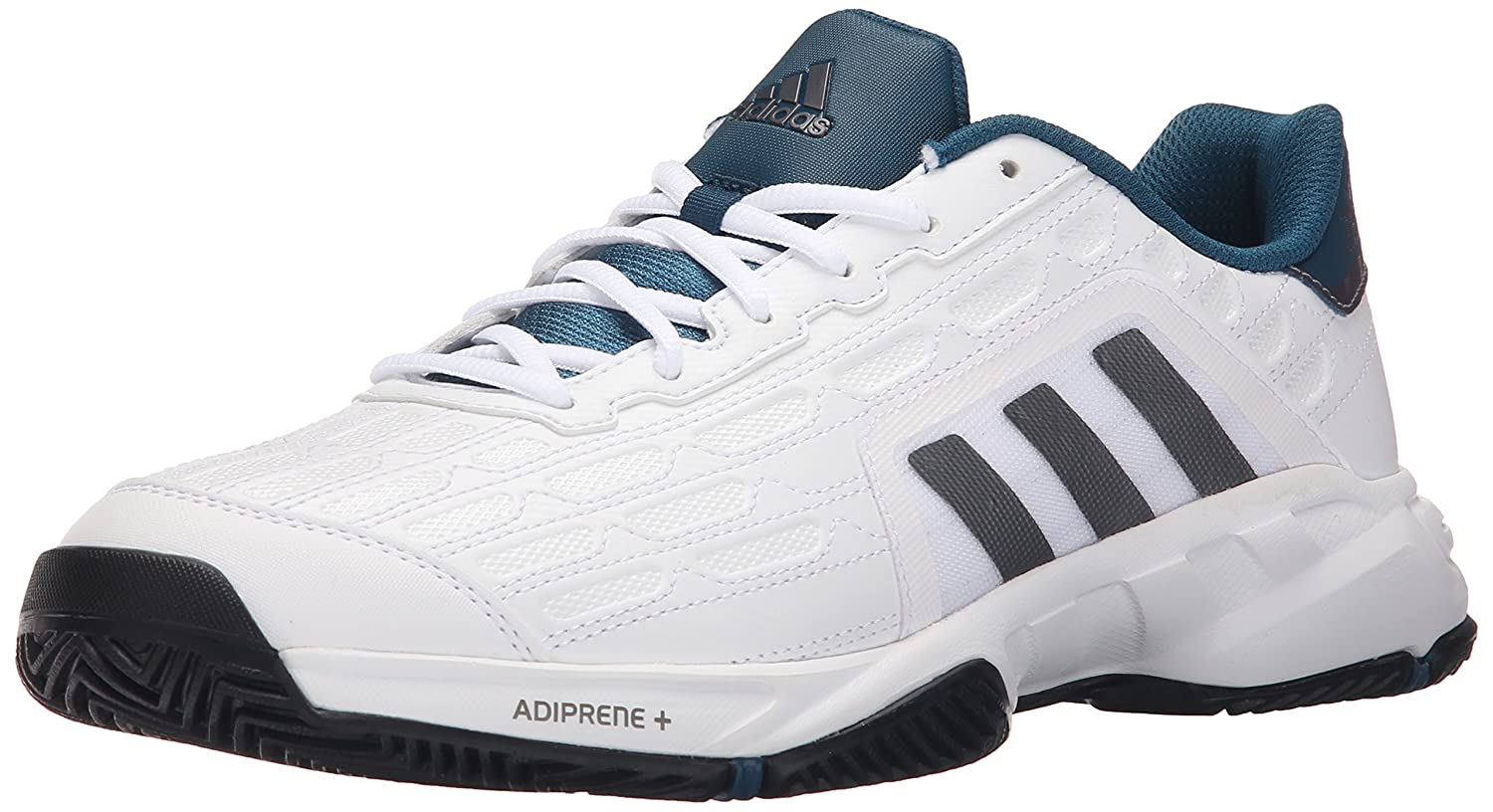 Amazon.com | adidas Performance Men's Barricade Court 2 Wide Tennis Shoe,  White/Iron Metallic Grey/Black, 8 M US | Tennis & Racquet Sports