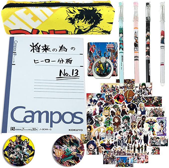 Anime My Hero Academia Cosplay Scroll Pencil Case Portable Stationery Box Gift