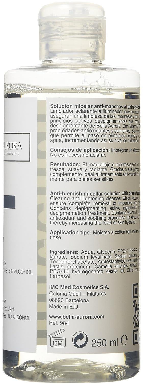 Bella Aurora Leche Limpiadora Facial Anti-Manchas Desmaquillante con Extracto de Papaya para Piel Normal o Seca, 250 ml: Amazon.es: Belleza