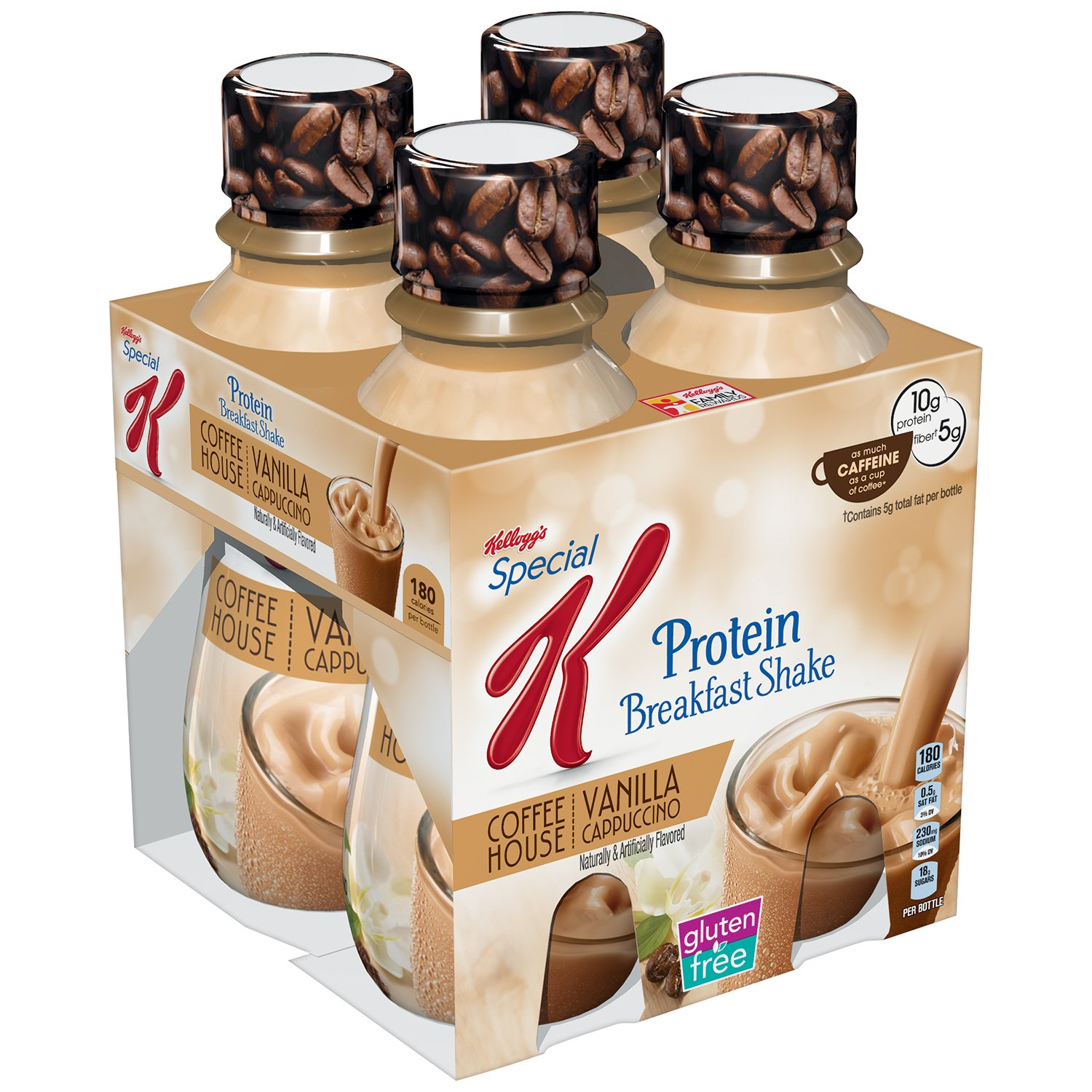 Kellogg's Special K Protein Cafe-Inspired Shake, Vanilla Cappuccino, 10 Ounce (Pack of 3)
