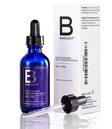d4c4e2ab353 Biotin Hair Growth Serum by B Radiant - Potent Regrowth Treatment Product  to Vitalize and Enliven
