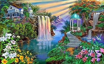Mahalaxmi Art Nature Hd Wallpaper Satin Paper Multicolour Amazon In Home Kitchen
