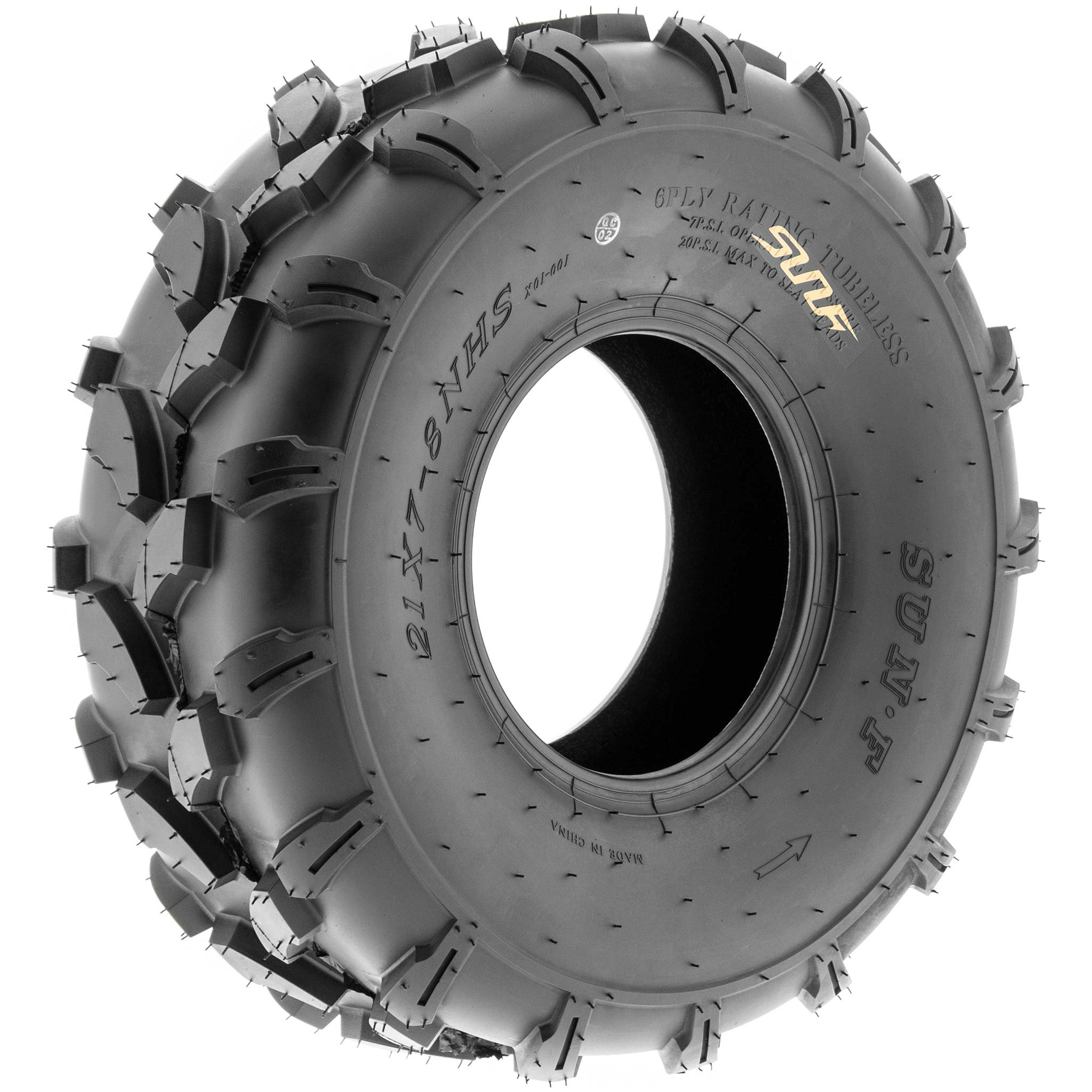 SunF 19x7-8 19x7x8 ATV UTV All Terrain Trail Replacement 6 PR Tubeless Tires A003, [Set of 2] by SUNF (Image #9)