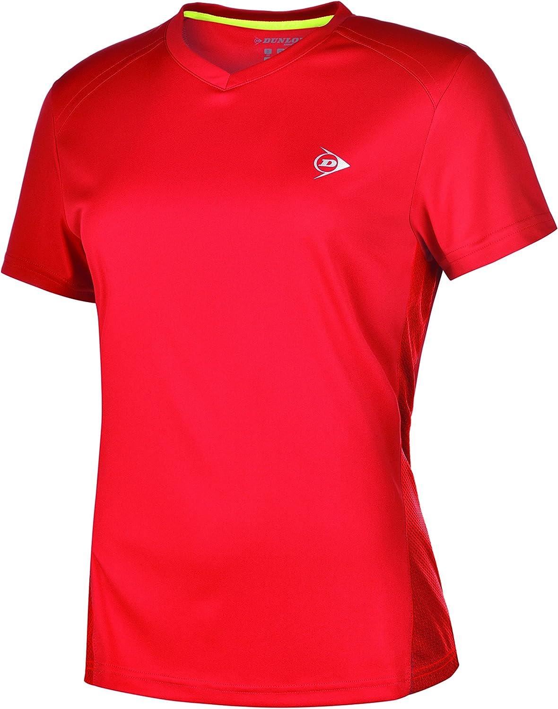 Dunlop Clubline Crew tee Women Camisetas, Mujer
