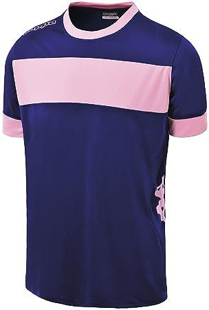 Kappa Remilio SS, Camiseta de equipación Niños, Mullticolor (Azul Marino / Rosa)