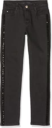 IKKS Junior Denim Skinny Black Jeans para Niñas