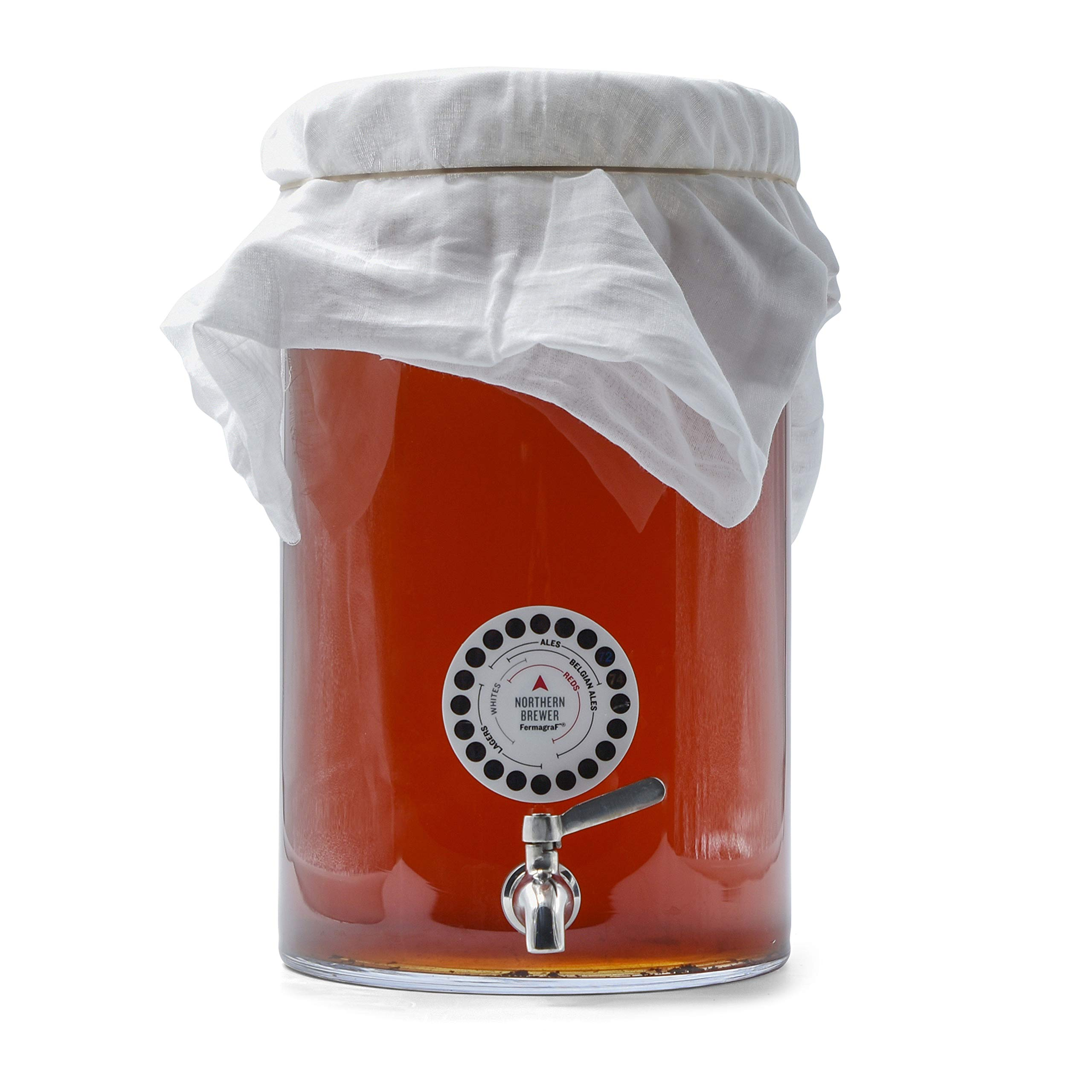 Northern Brewer - Kombucha Brewing Starter Kit With Scoby Included (3 Gallon Glass with Stainless Spigot) by Northern Brewer (Image #8)