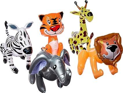Amazon.com: Animales del Zoológico (12) inflables por ...
