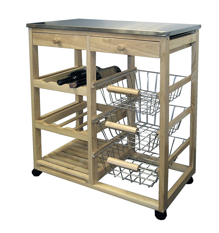 Amazon ORE International H 43 Wood Kitchen Cart Kitchen & Dining