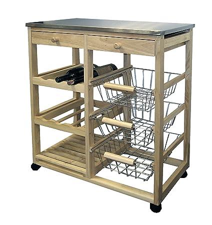 Superieur ORE International H 43 Wood Kitchen Cart