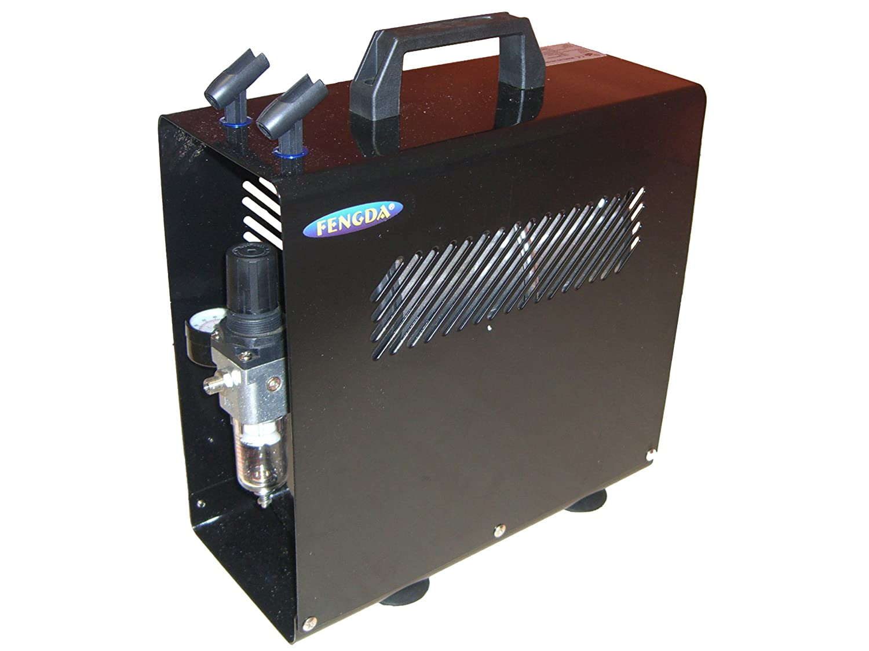 Airbrush Hobby Kompressor mit Druckbehälter Fengda® AS-186A mit Deckel Fengda Airbrush