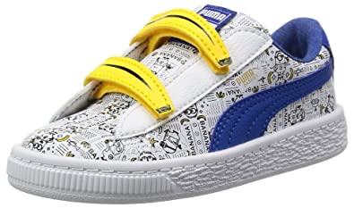 Puma Unisex Kids  Minions Basket V Inf Low-Top Sneakers 770857340