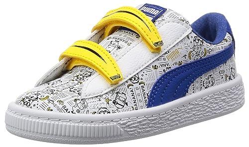 Puma Minions Basket V Inf, Zapatillas Unisex Niños, Blanco (White-Lapis Blue), 21 EU: Amazon.es: Zapatos y complementos