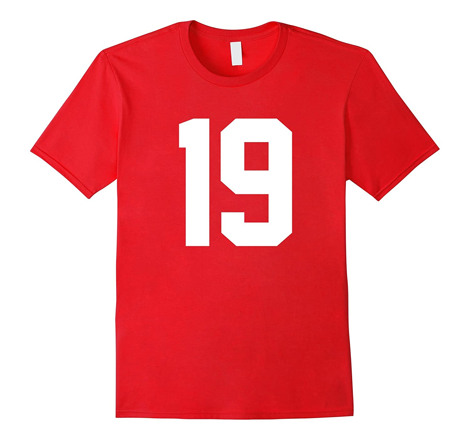 #19 Team Sports Jersey Number Front & Back Player / Fan Tee-TH