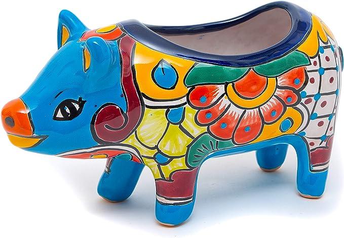 Talavera Pottery Piggy Flower Pot