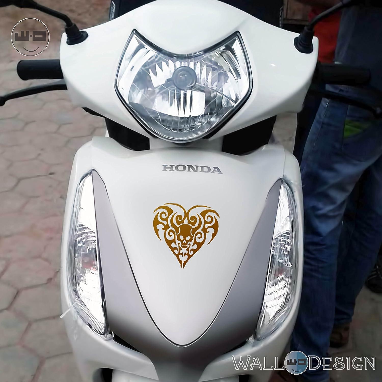 Walldesign sticker design for motorcycle black heart tribal gold colour reflective vinyl amazon in car motorbike