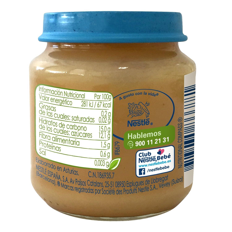 Nestlé Naturnes BIO - Puré plátano, manzana, pera y melocotón, 6 x 120 g: Amazon.es: Alimentación y bebidas