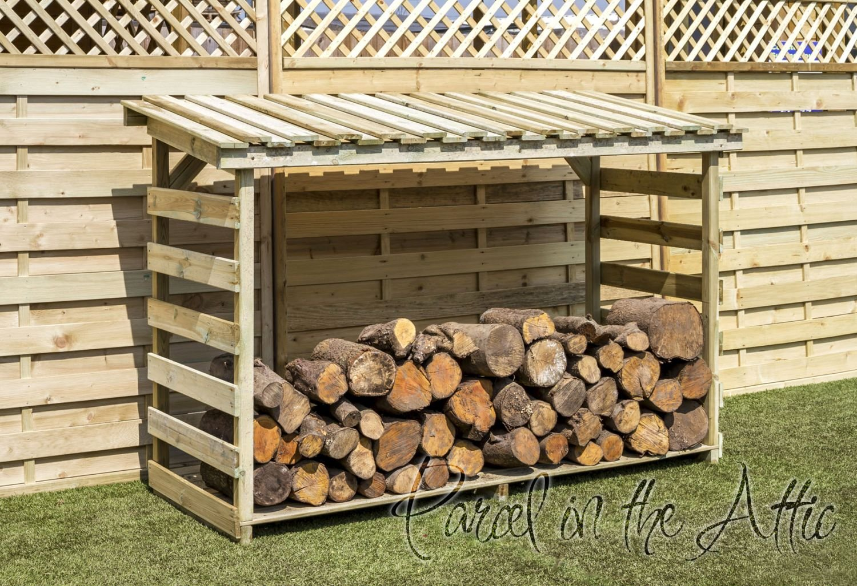 Bon Garden Log Storage In Heavy Duty Pressure Treated Wood (Log Chest):  Amazon.co.uk: Kitchen U0026 Home