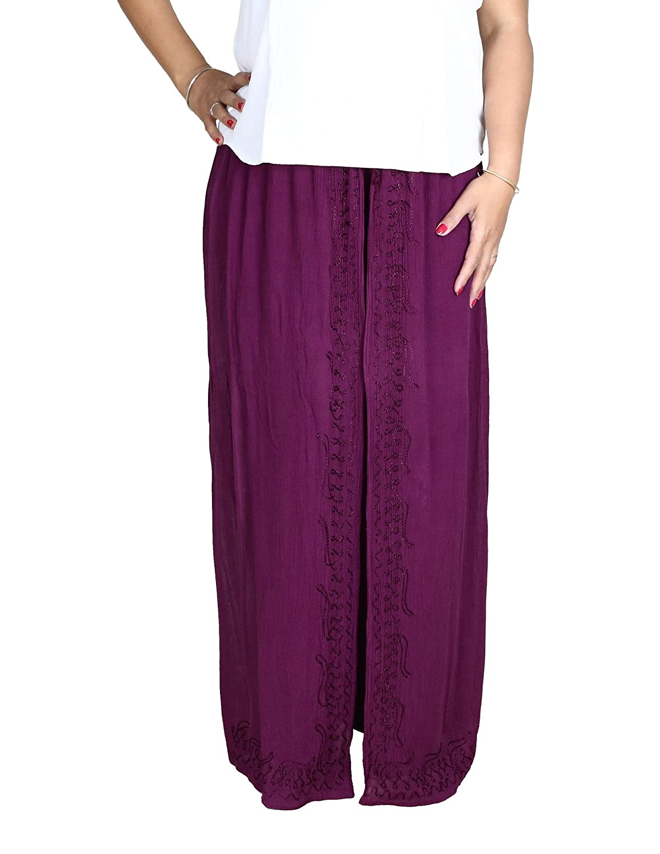 Bestickte Sommerhose aus Rayon in farbenfrohem Batik Muster