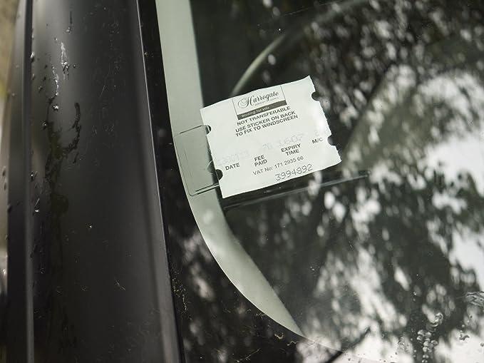 Tikettak Parkscheinhalter Für Die Windschutzscheibe Für Parkscheine Genehmigungen Und Notizen Für Autos Transporter Und Wohnmobile Bußgelder Vermeiden Auto