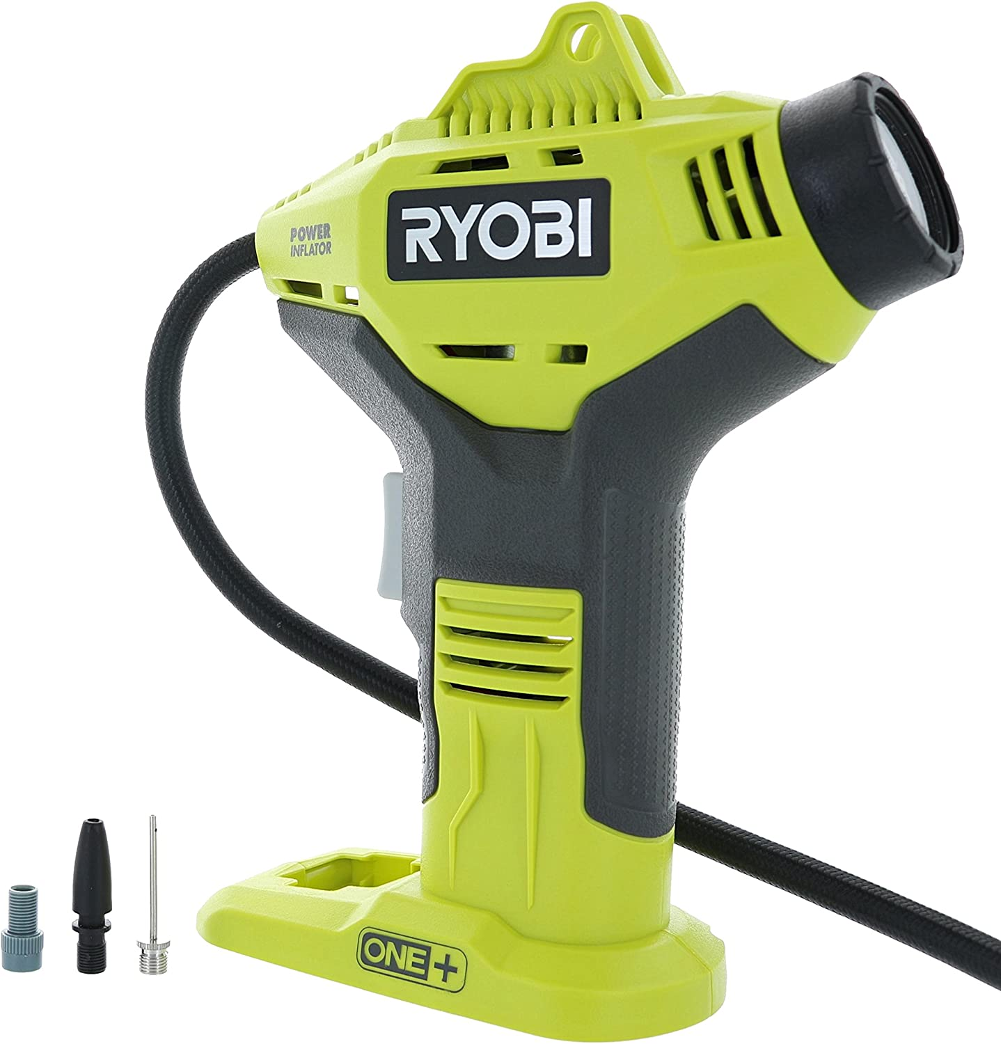 Battery Not Included, Power Tool Only Portable Cordless Power Inflator for Tires Ryobi P737 18-Volt ONE