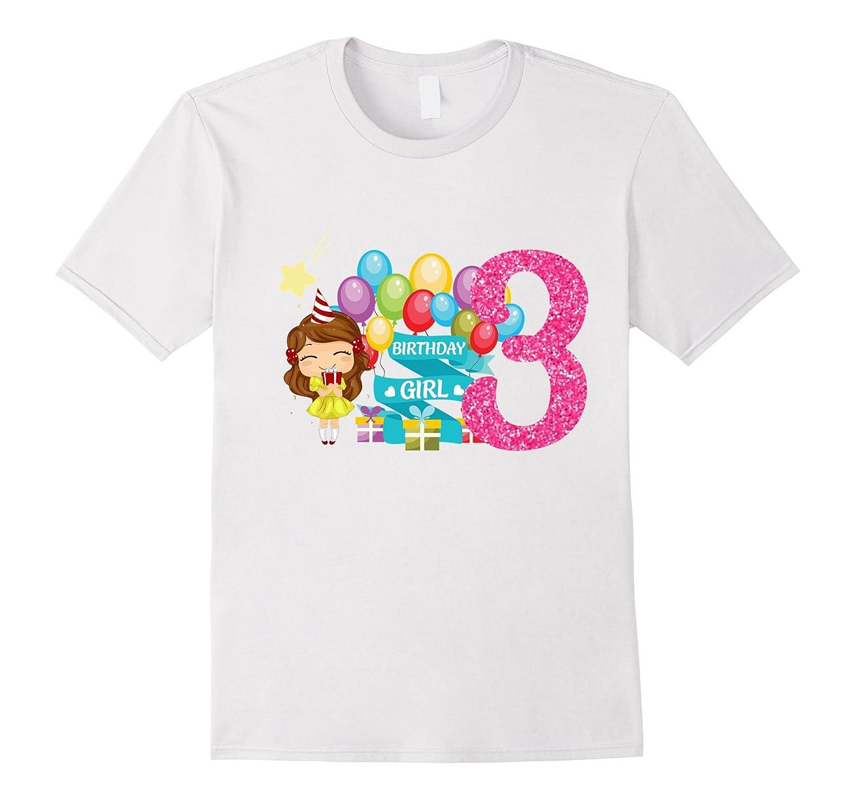 3rd Birthday Girl T Shirt - Toddler Girl - Gift for girls-ANZ