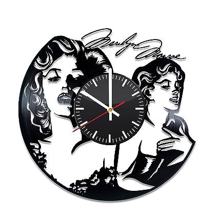 Marilyn Monroe Vinyl Clock - Blonde Bombshell Vinyl Record Wall Art Handmade Decor for Bendroom &