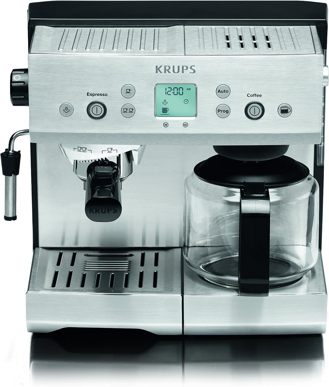 Krups YY8204FD - Cafetera de espresso, 2450 W, 1.1 L, color plateado: Amazon.es: Hogar