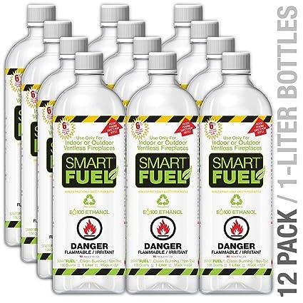 Amazon Com Smartfuel Bio Ethanol Fireplace Fuel 1 Case 12 Liters