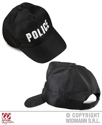 WIDMANN 03606 Policía Gorra Ajustable   Negro  Amazon.es  Juguetes y ... 418e78fc913