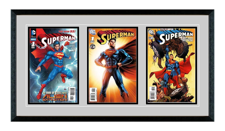 Amazon.com - Triple Comic Book Glass Frame - Real Wood/Matting and ...