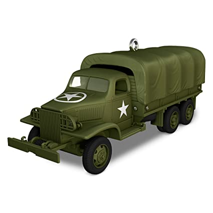 Hallmark 1941 GMC CCKW Metal Ornament Transportation