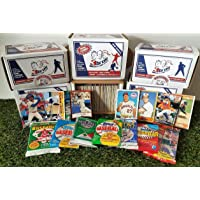 Limited Edition 300 card MINI-JUMBO lot of Baseball cards + 3 Vintage Unopened Wax Packs… photo