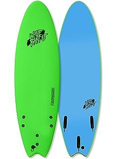 Wave Bandit Performer Tri Surfboard, Neon Green, ...