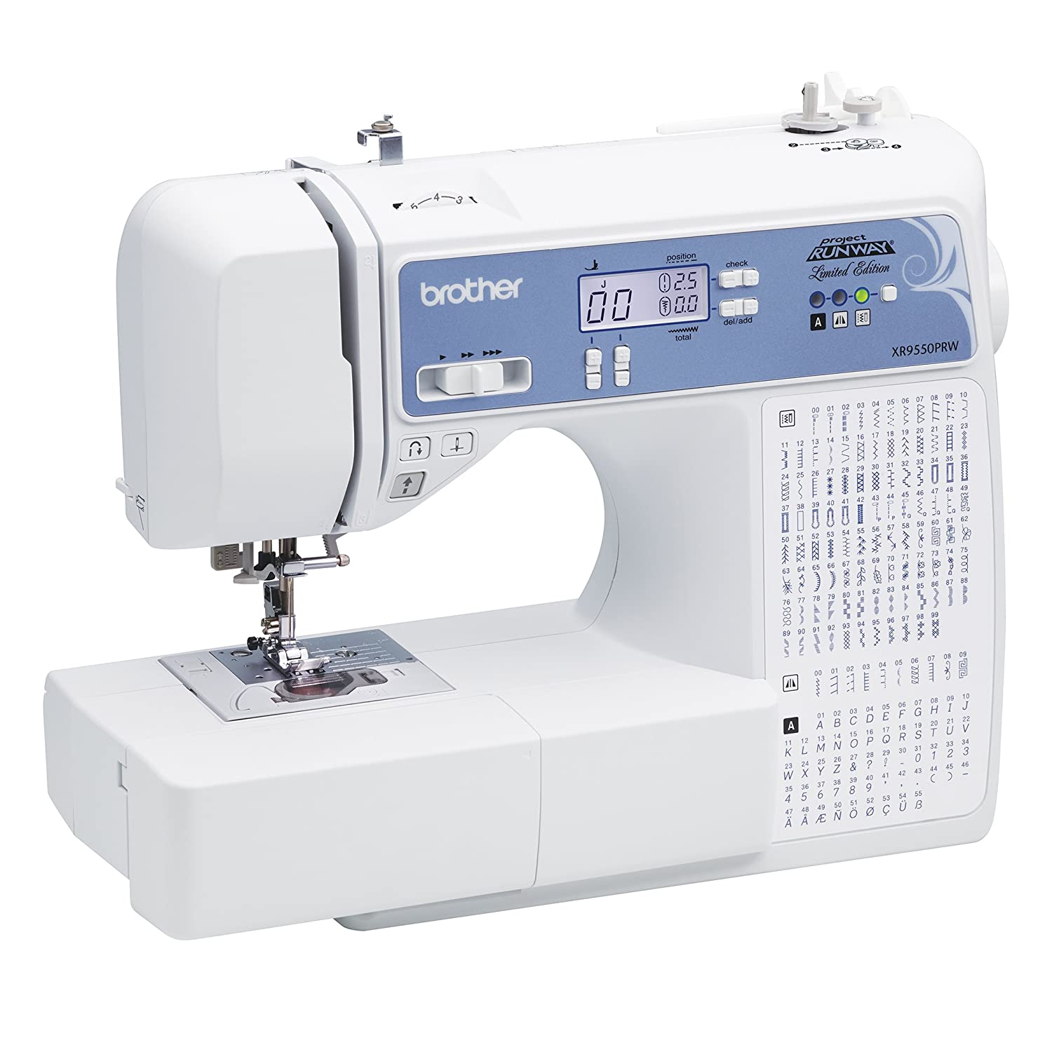 Amazon.com: Brother, Computerized Sewing Machine, XR9550PRW, Project Runway  Limited Edition, 110 Built-in Utility, LCD Screen, Hard Case