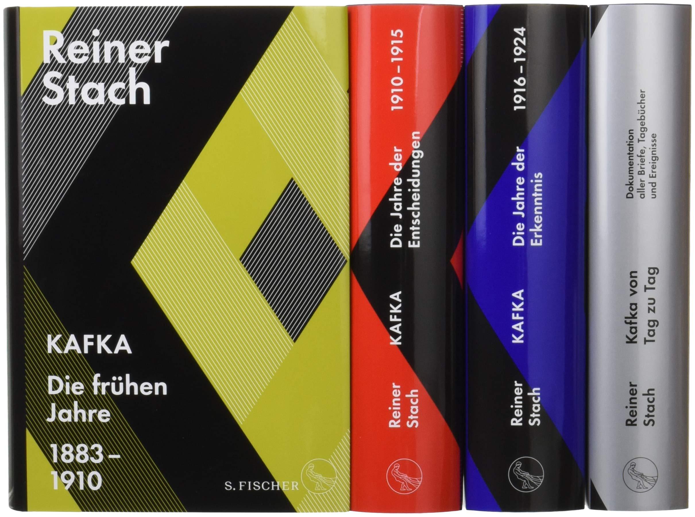 Die Kafka-Biographie in drei Bänden: Limitierte Gesamtausgabe im Schuber. Mit dem Zusatzband »Kafka von Tag zu Tag. Dokumentation aller Briefe, ... und einem historischen Stadtplan von Prag Gebundenes Buch – 5. Oktober 2017 Reiner Stach S. FISCHER 31039725