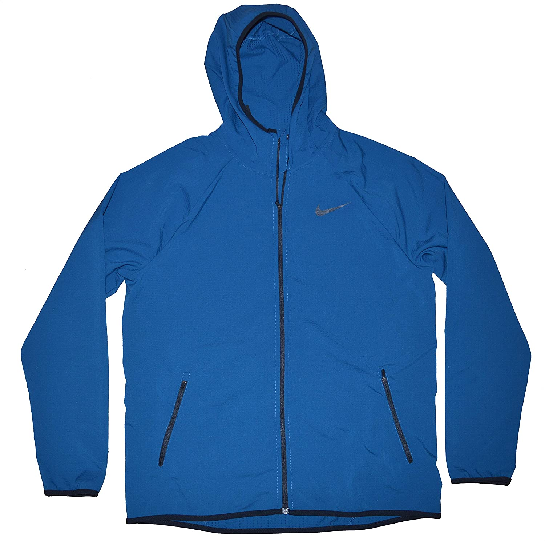 Nike Men s Flex Stretch Lightweight Full Zip Hooded Windbreaker Jacket Dri  Fit at Amazon Men s Clothing store  549824a92