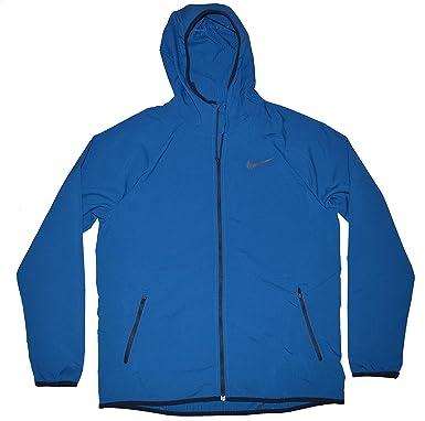 ba1e222c4d3e Nike Men s Flex Stretch Lightweight Full Zip Hooded Windbreaker Jacket Dri  Fit at Amazon Men s Clothing store